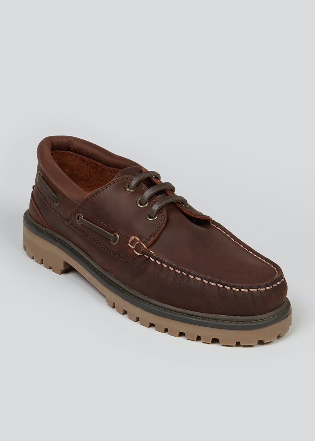 Real Leather Tan Boat Shoes