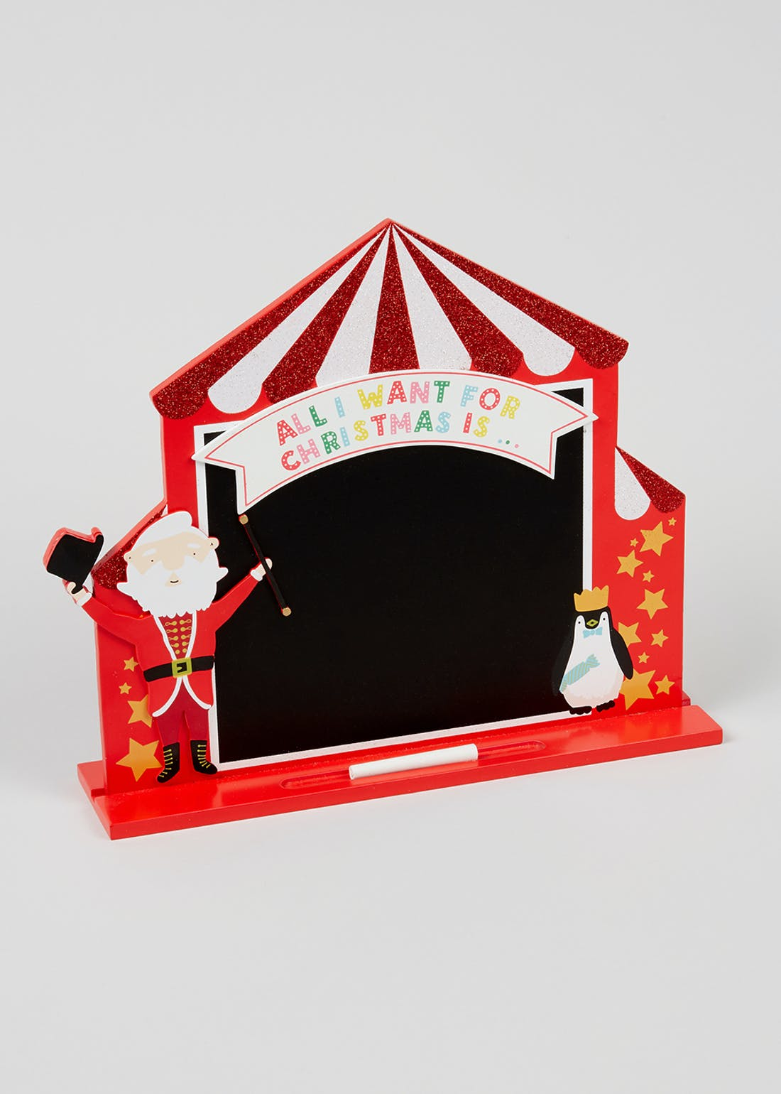 Carnival Christmas Advent Wishlist Chalkboard
