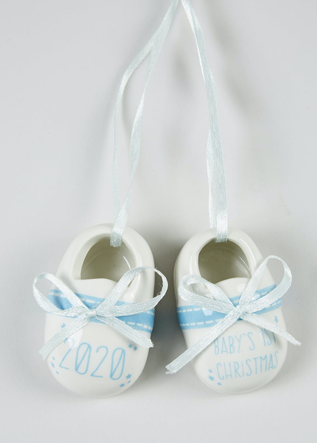 First Christmas Baby Shoes Decoration (6cm x 3.5cm)