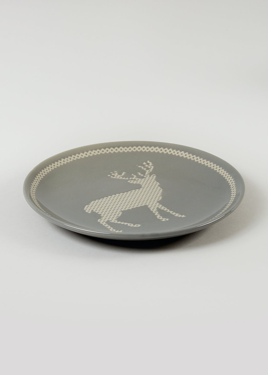 Christmas Stag Side Plate (20cm)