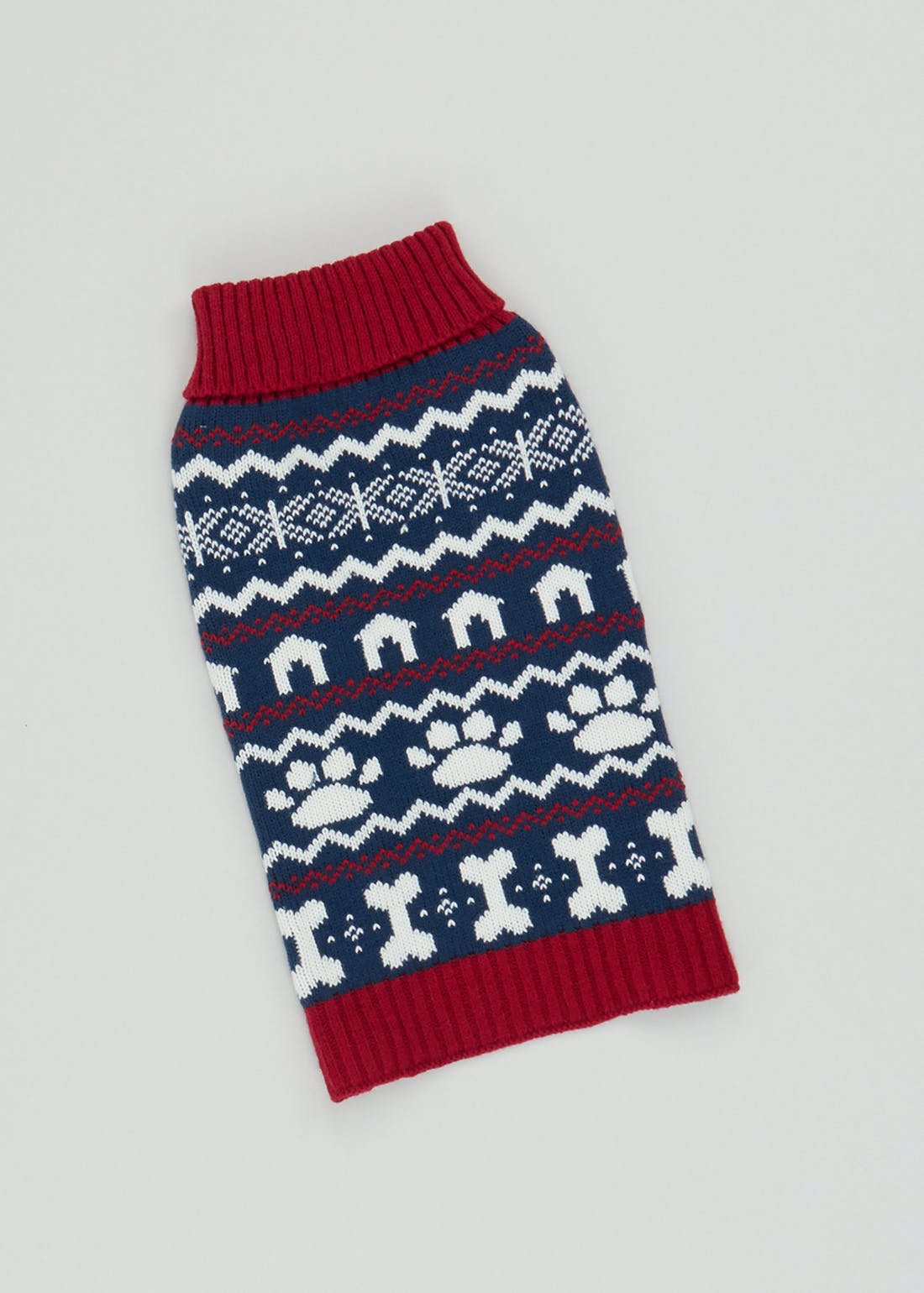 Fair Isle Christmas Dog Jumper (Medium)