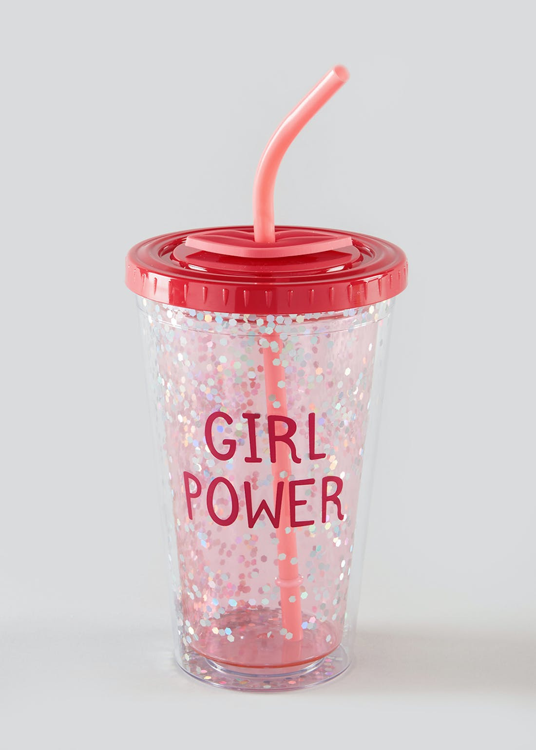 Girl Power Travel Cup with Straw (22cm x 10cm x 10cm)