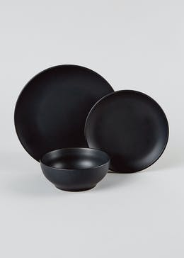12 Piece Matte Stoneware Dinner Set
