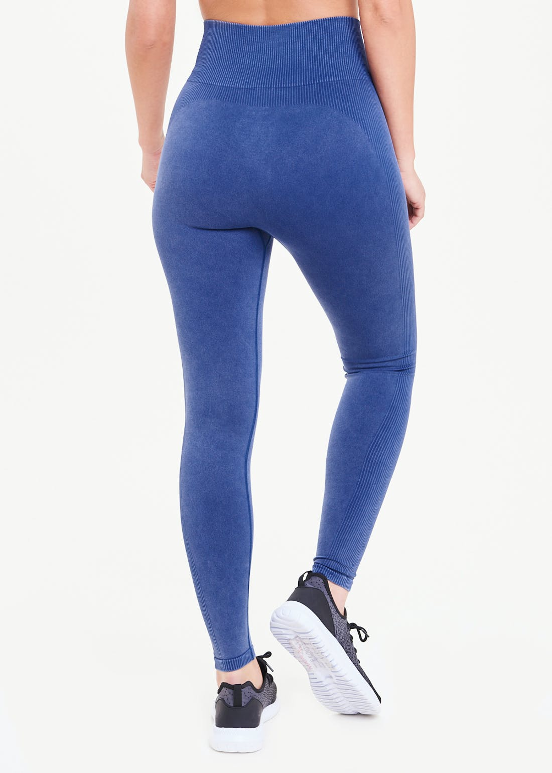 Souluxe Navy Seamless Ribbed Gym Leggings