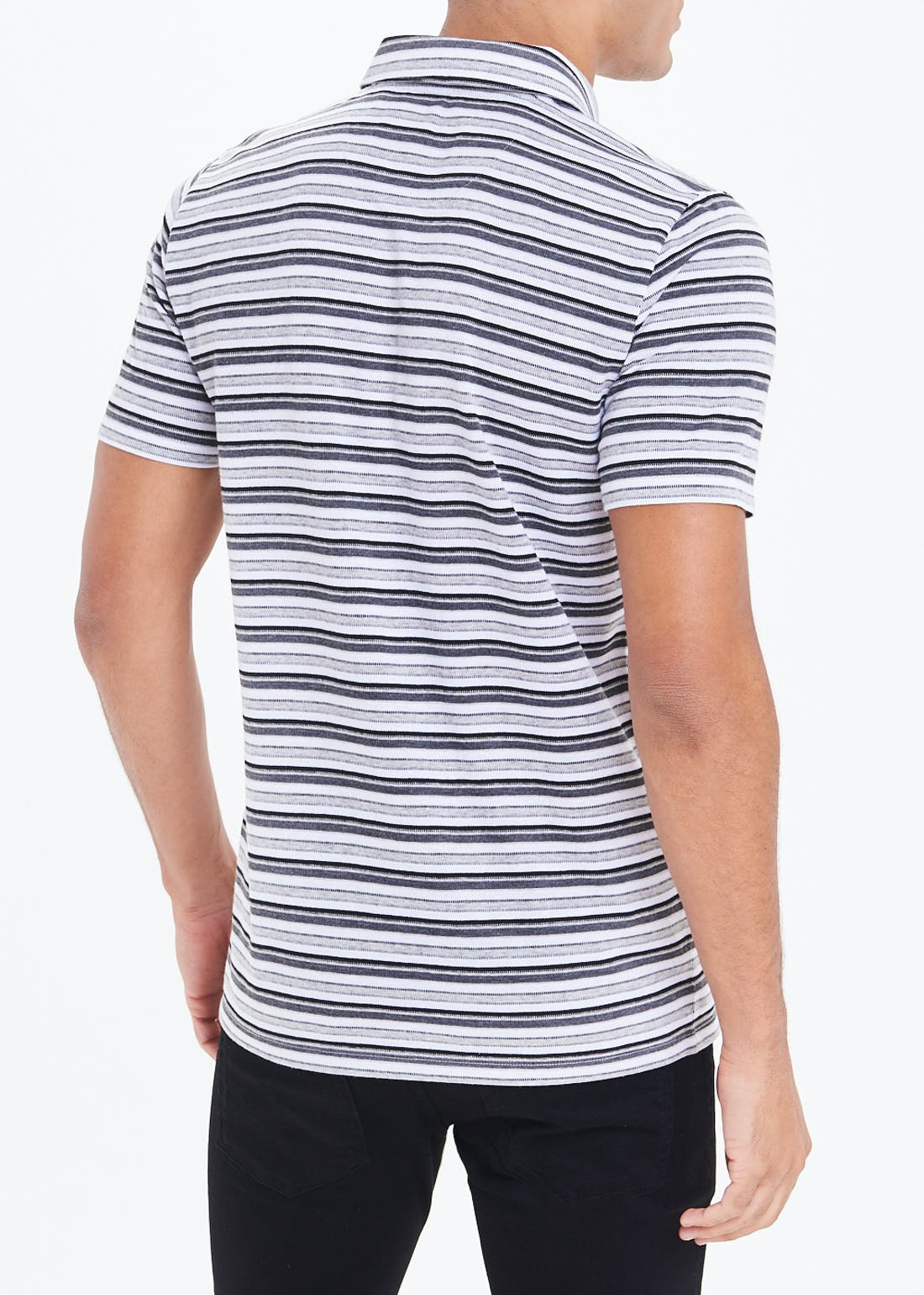 Jacquard Stripe Polo Shirt