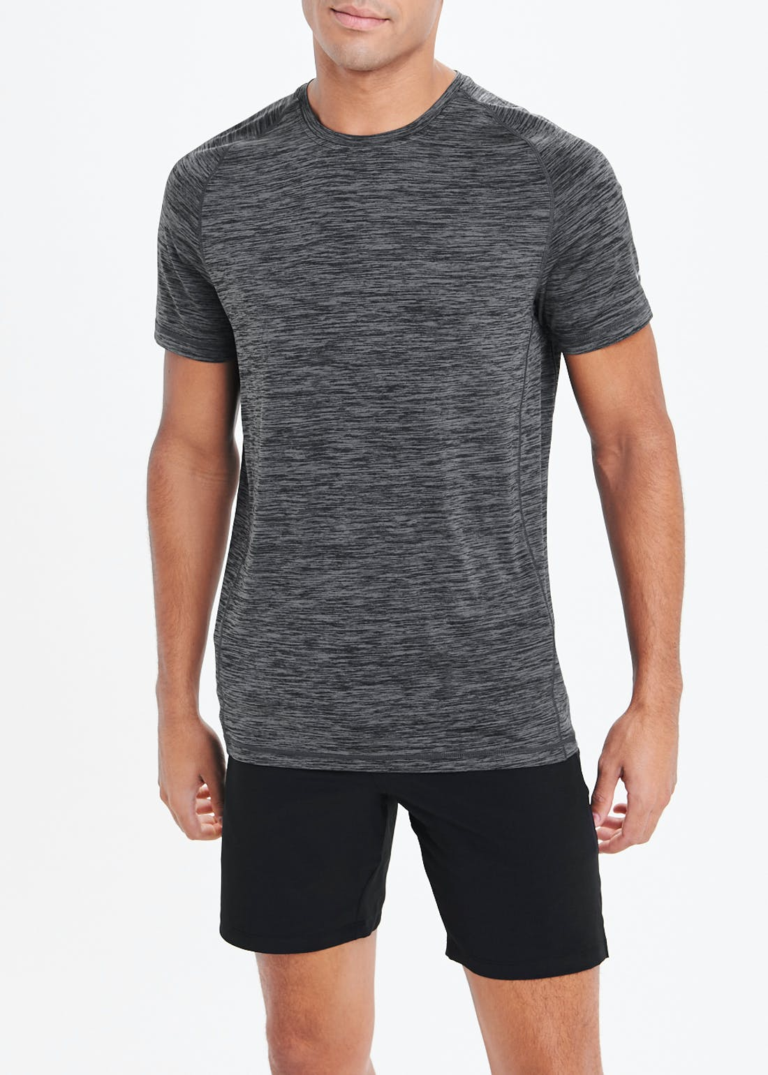 Souluxe Charcoal Basic Gym Top