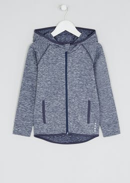 Girls Souluxe Navy Space Dye Sports Hoodie (4-13yrs)