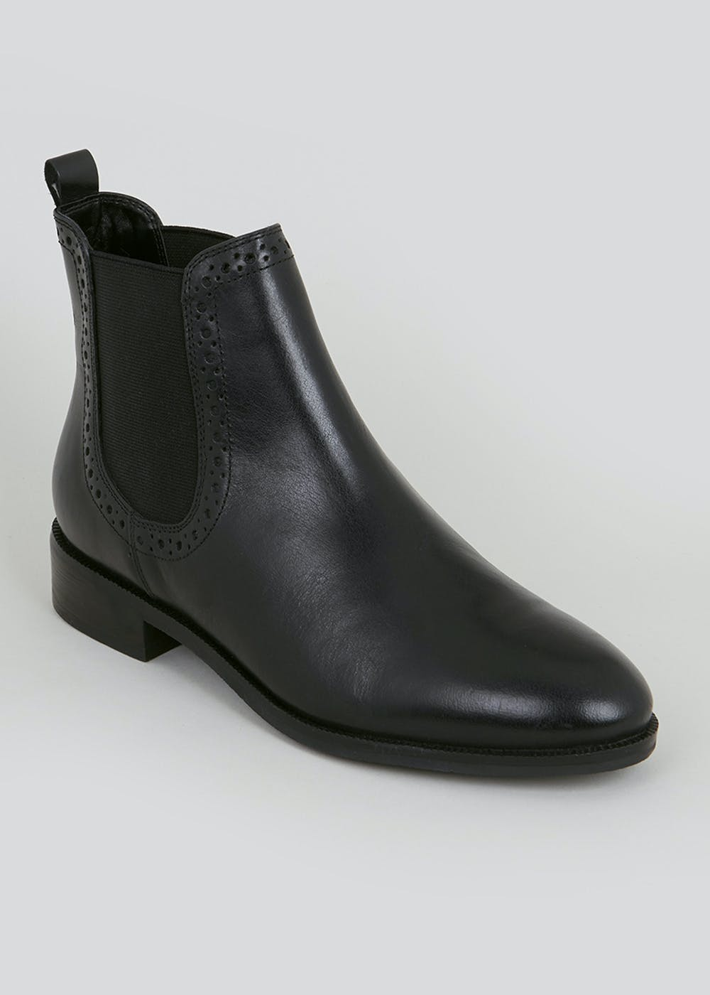 Soleflex Black Real Leather Chelsea Boots – Black