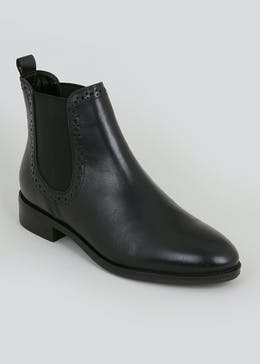 Soleflex Black Real Leather Chelsea Boots