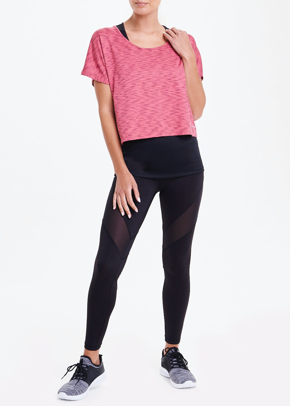 Souluxe Pink 2 in 1 Gym Top
