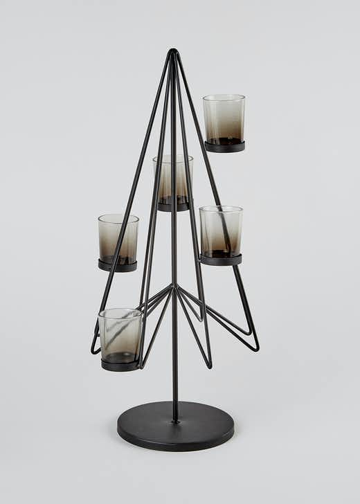 Wire Christmas Tree Candle Holder (49cm x 28cm)