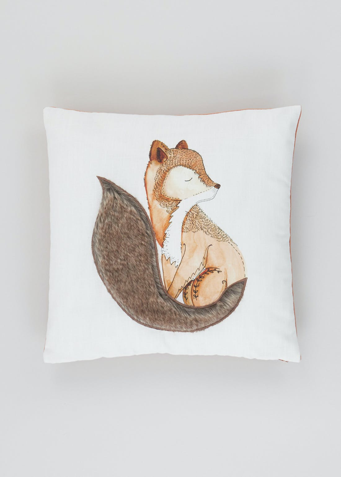 Fur Tail Fox Cushion (46cm x 46cm)