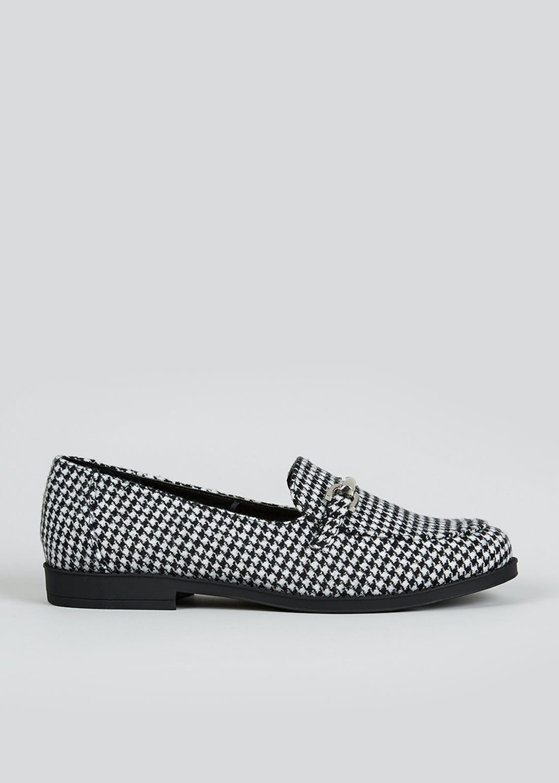 Black & White Dogtooth Loafers