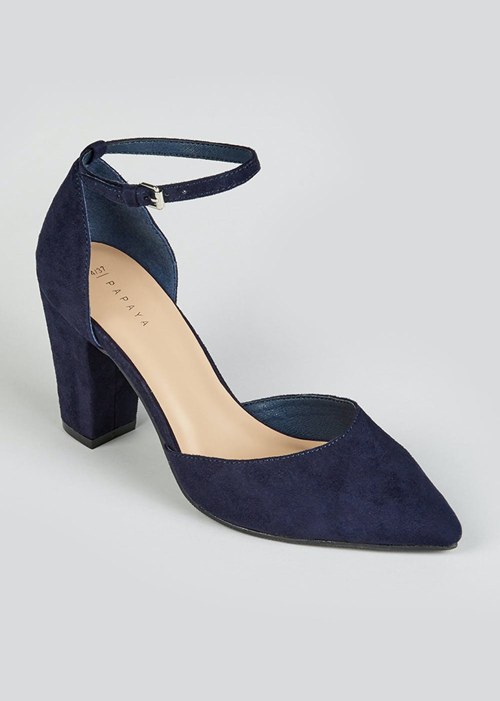 Navy Suedette Court Shoes – Navy – Matalan