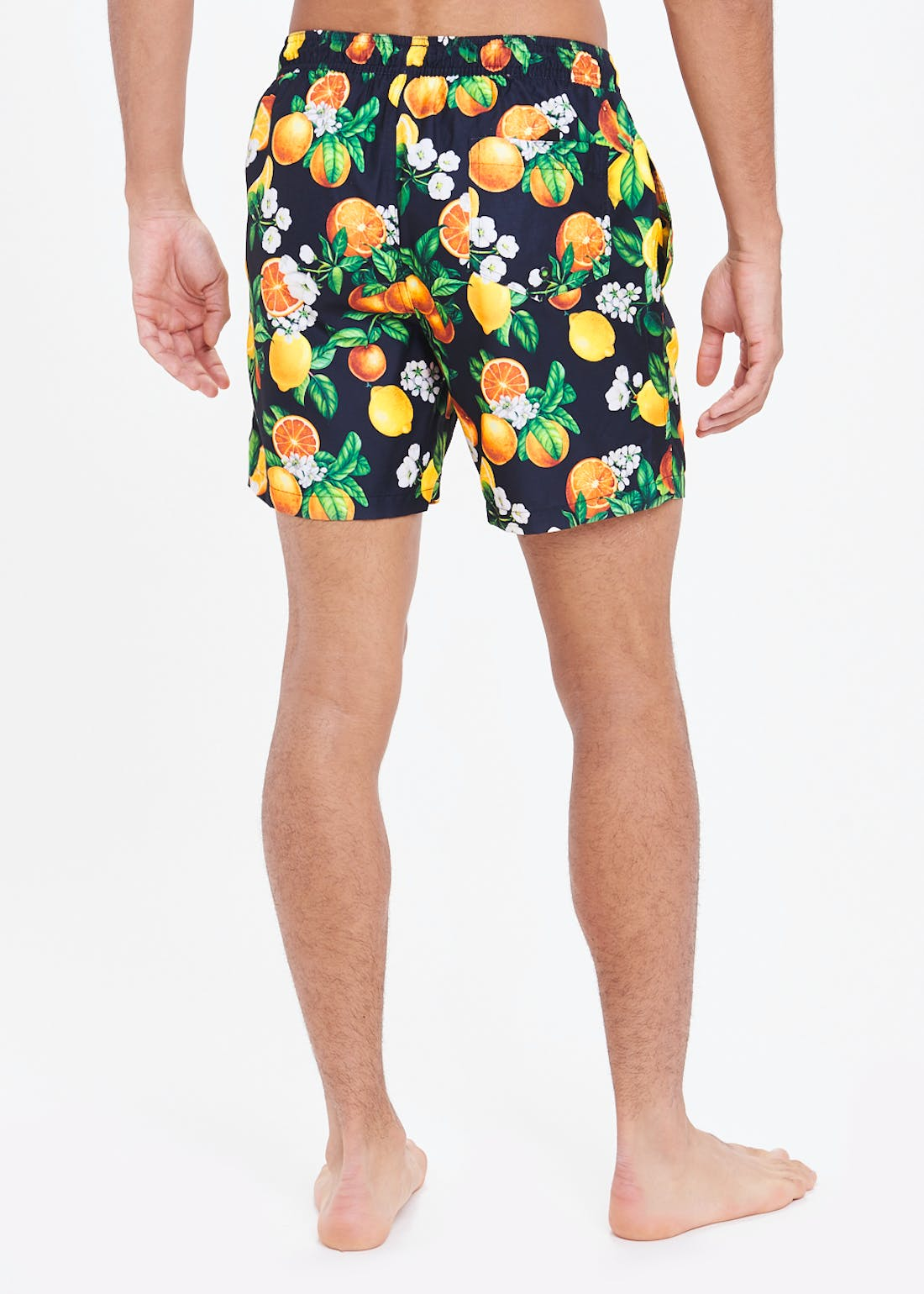 Orange & Lemon Print Swim Shorts