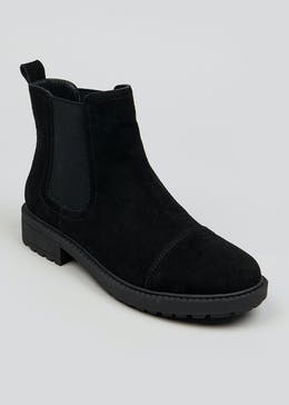 Soleflex Black Suede Chelsea Boots
