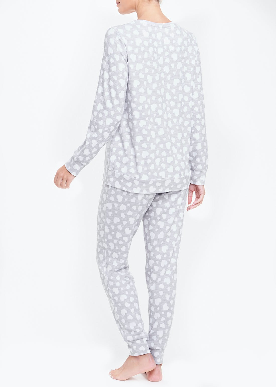 Heart Print Soft Touch Pyjamas