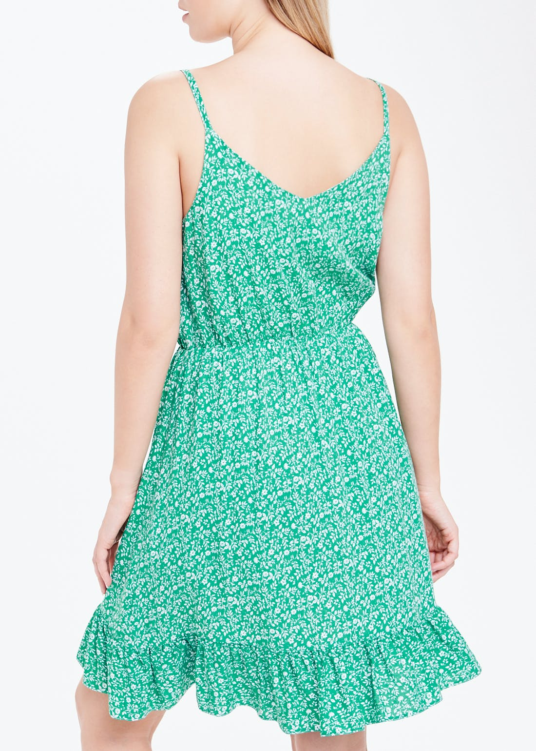Green Ditsy Floral Cami Dress
