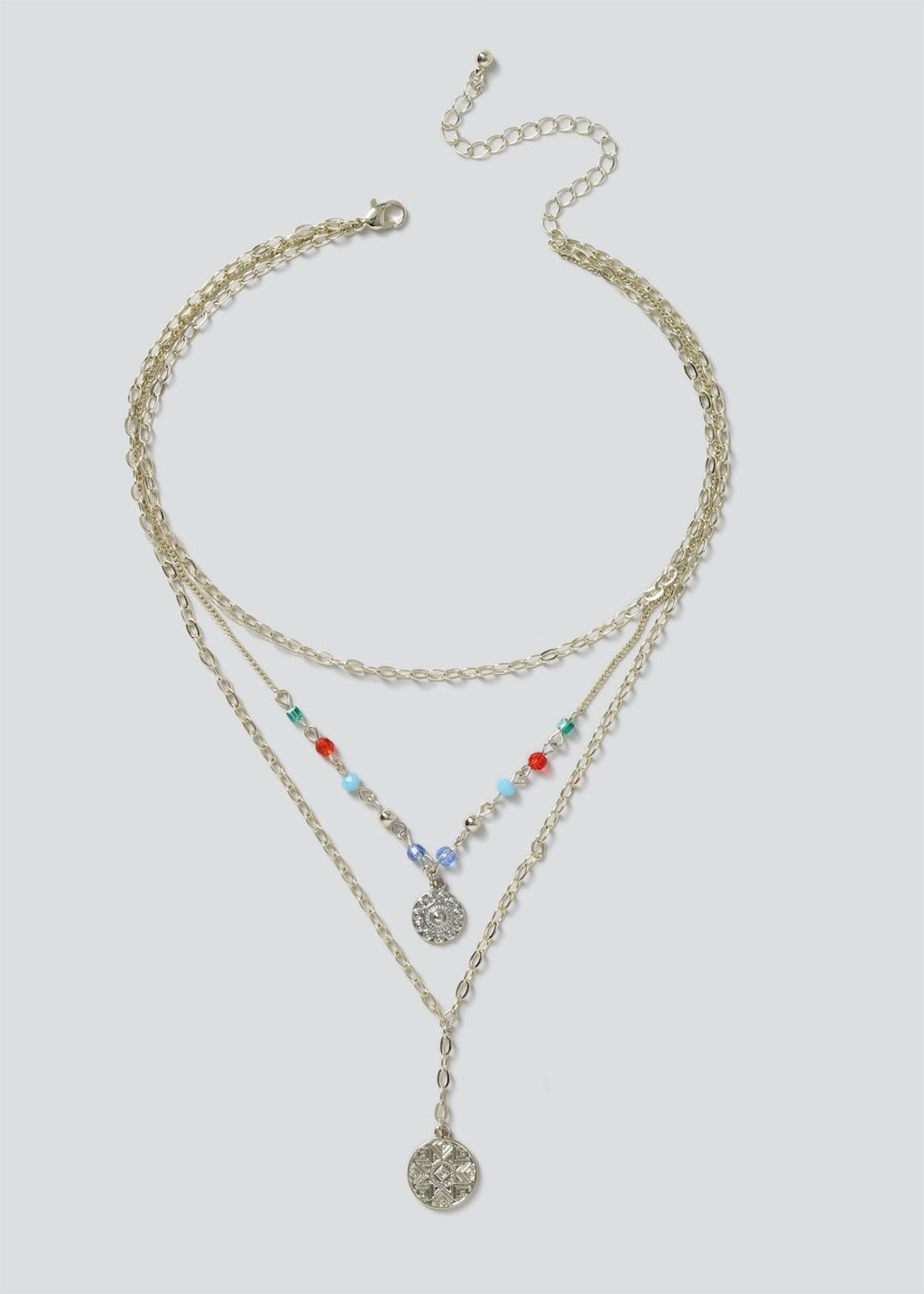 Multi Bead Layered Necklace