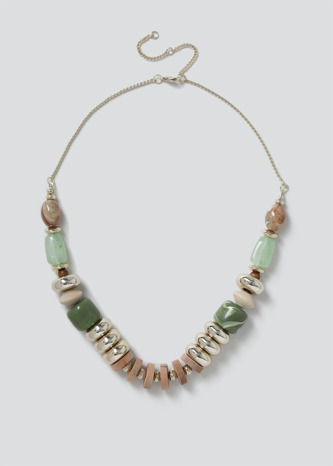 Wooden Multi Bead Necklace