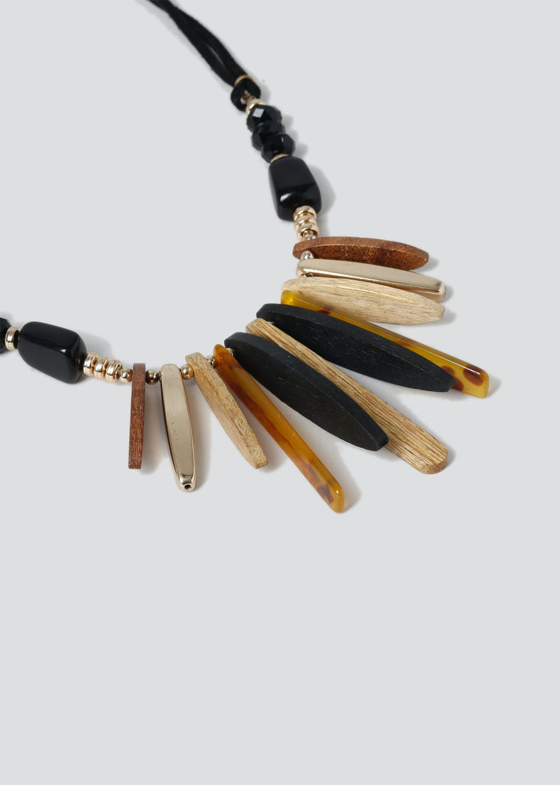 Wood & Tortoiseshell Necklace
