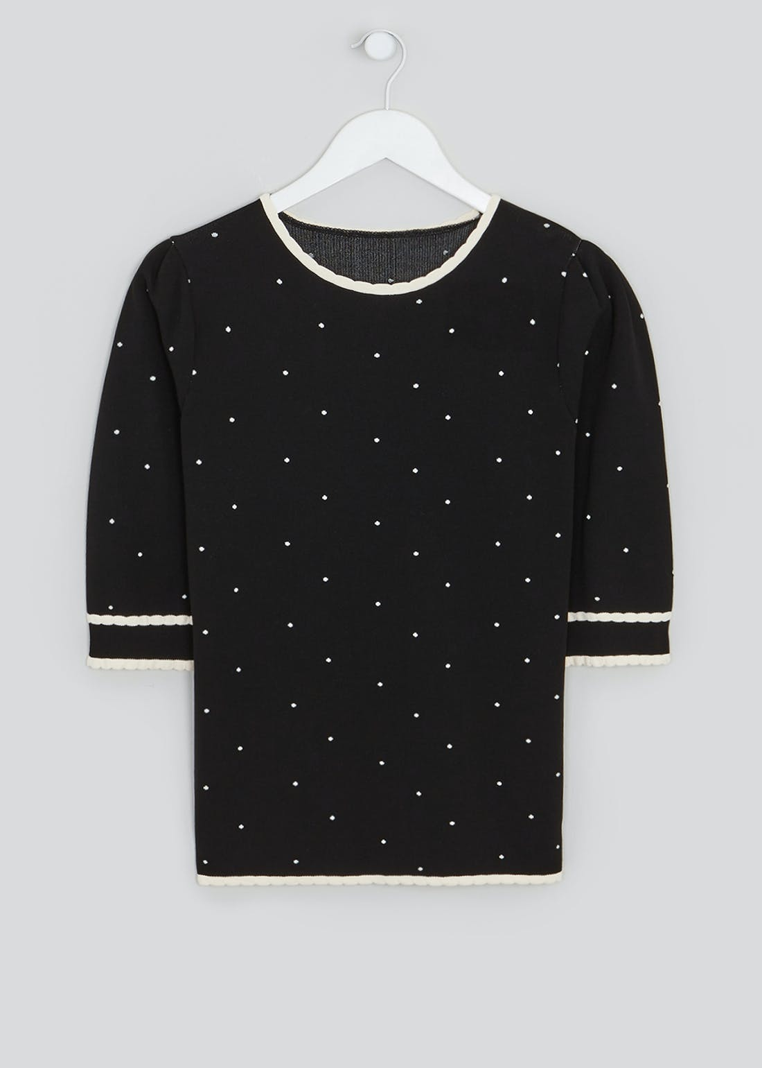 Spotty Short Sleeve Jumper