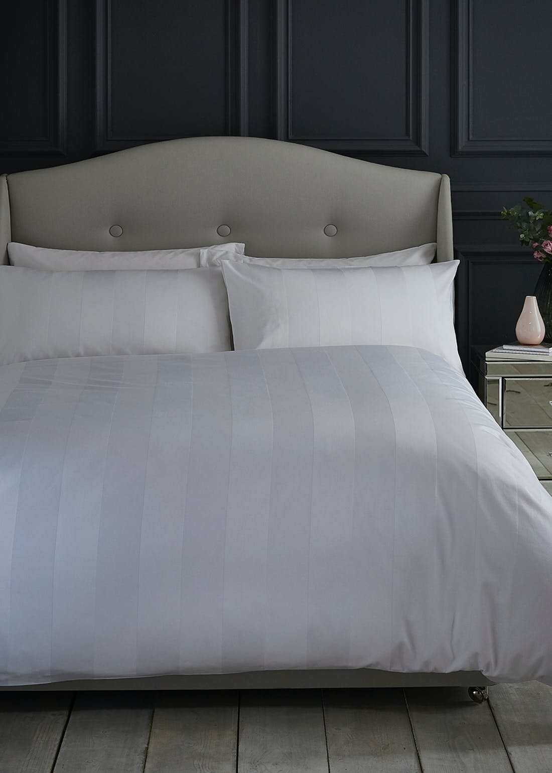Silentnight Sateen Stripe Duvet Cover