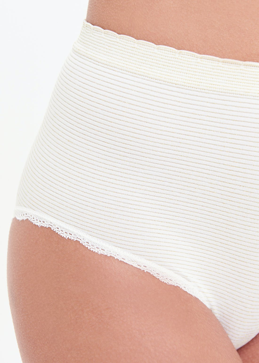 3 Pack Seam Free Sparkle Stripe Full Knickers