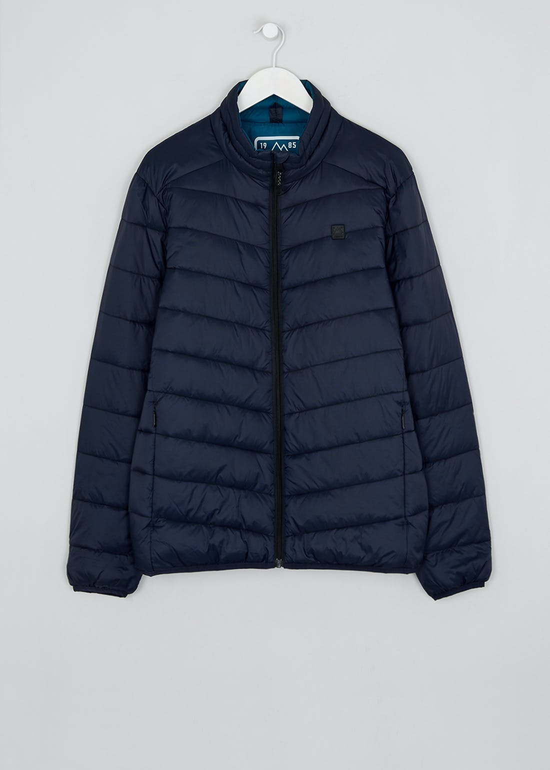Navy Lightweight Funnel Neck Puffer Jacket
