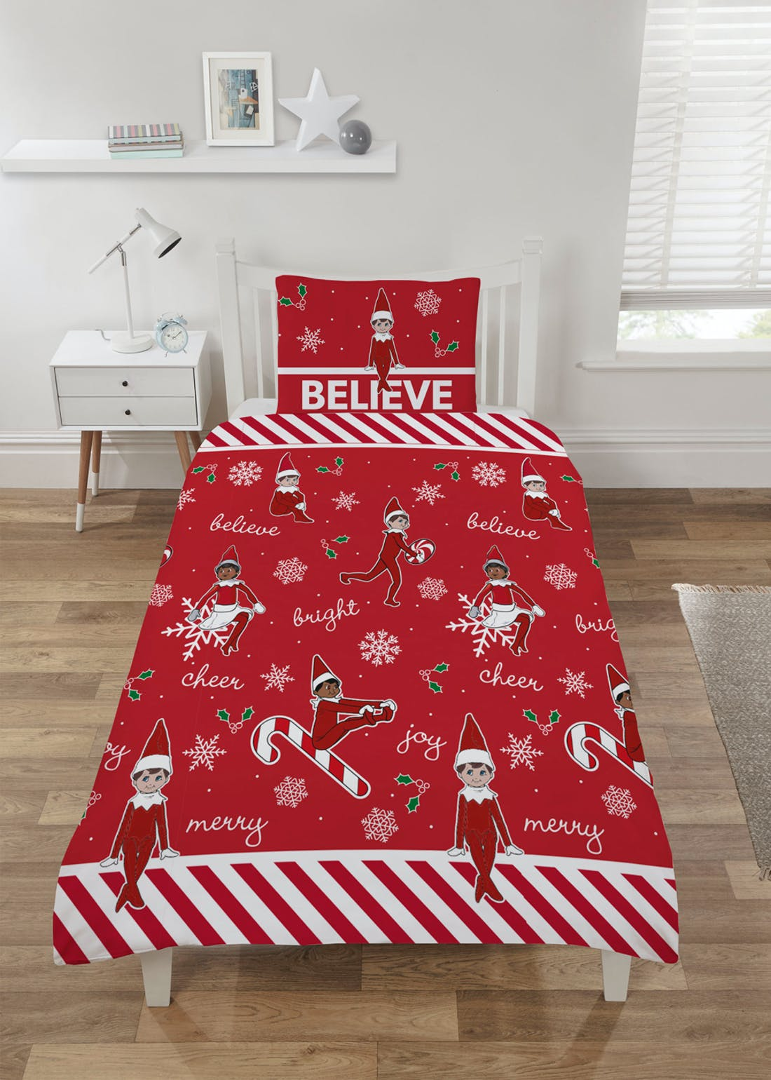 Kids Elf On The Shelf Christmas Bedding (Single)