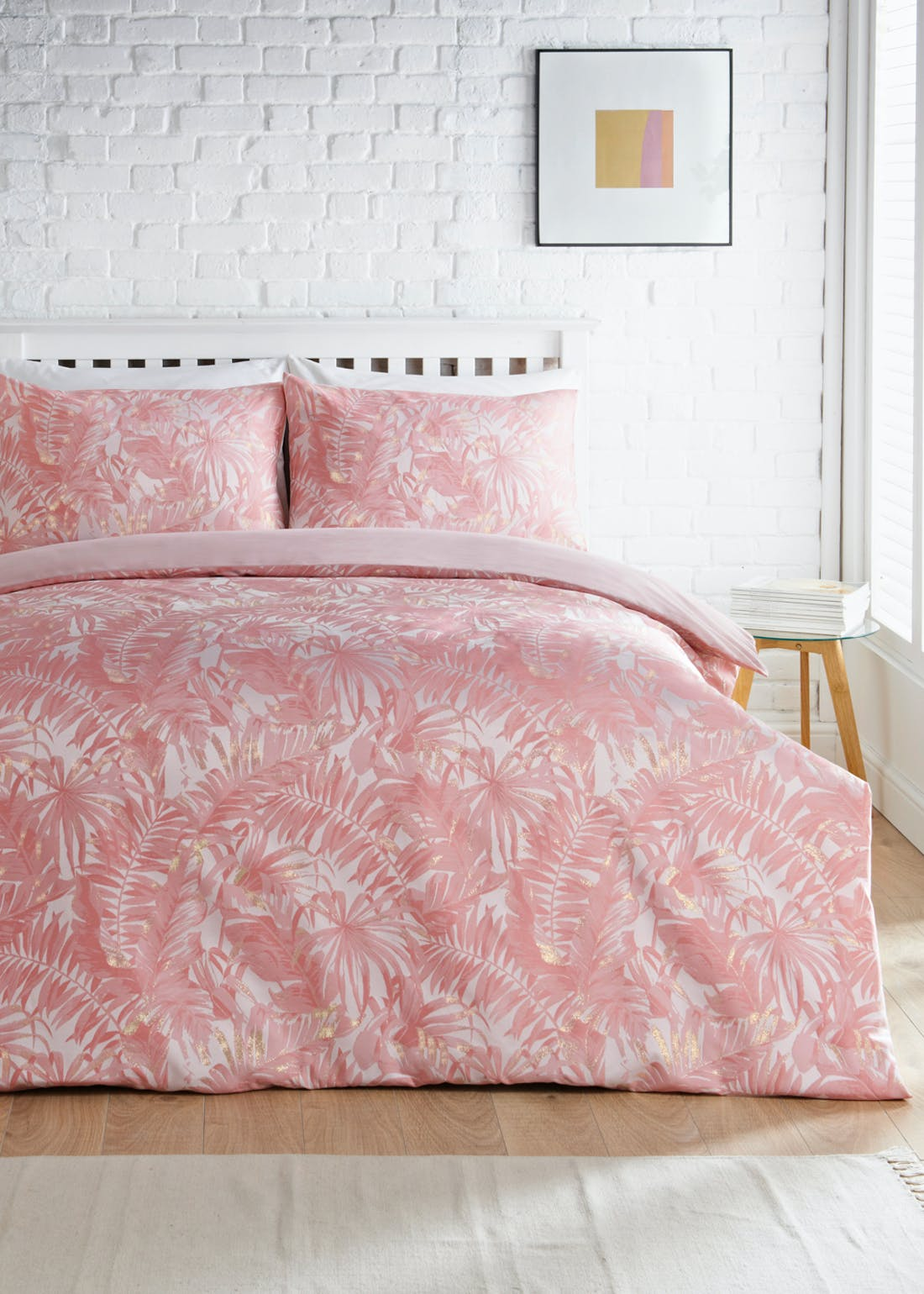 Palm Leaf Jacquard Duvet Cover