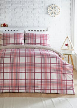 Reversible Tartan Flannel Christmas Bedding