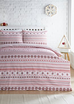Christmas Fair Isle Flannel Bedding