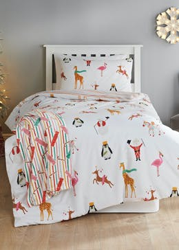Kids Reversible Christmas Carnival Bedding