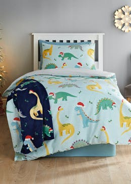 Kids Christmas Dinosaur Bedding (Single)