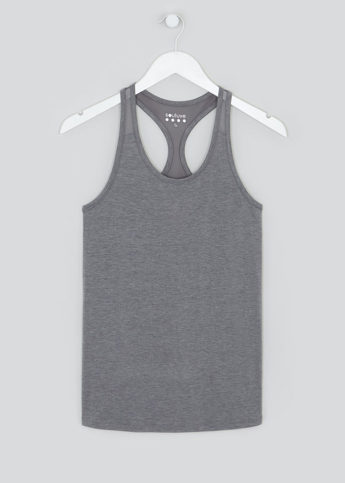 Souluxe Grey Racer Back Gym Vest