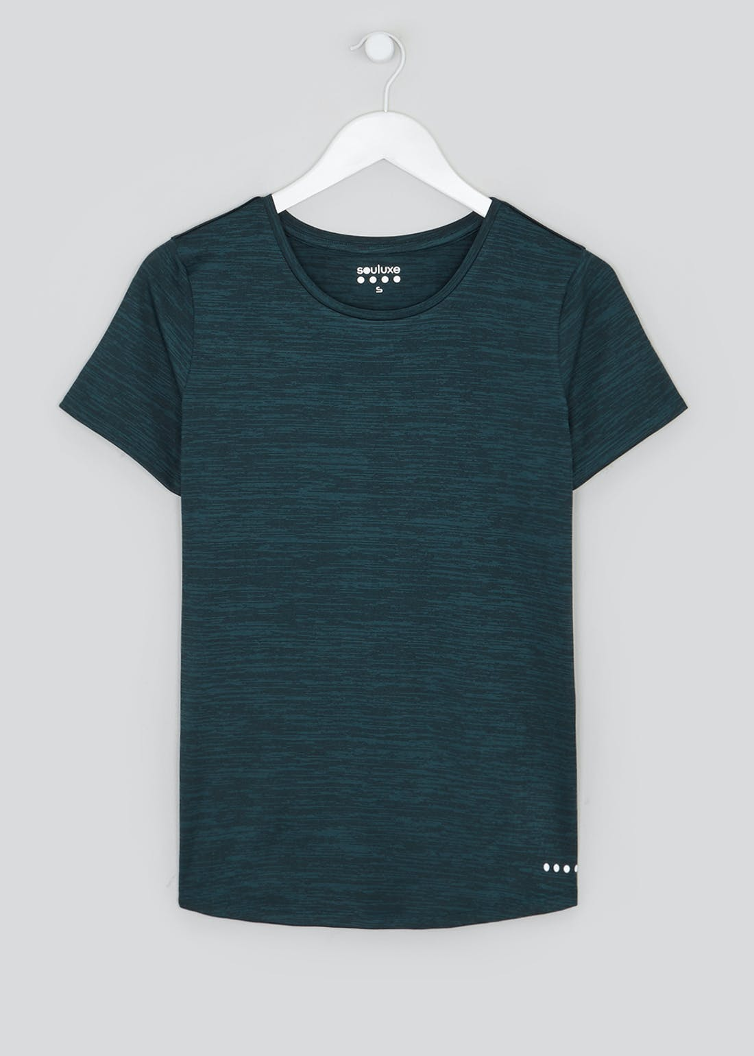 Souluxe Teal Pleat Back Gym T-Shirt
