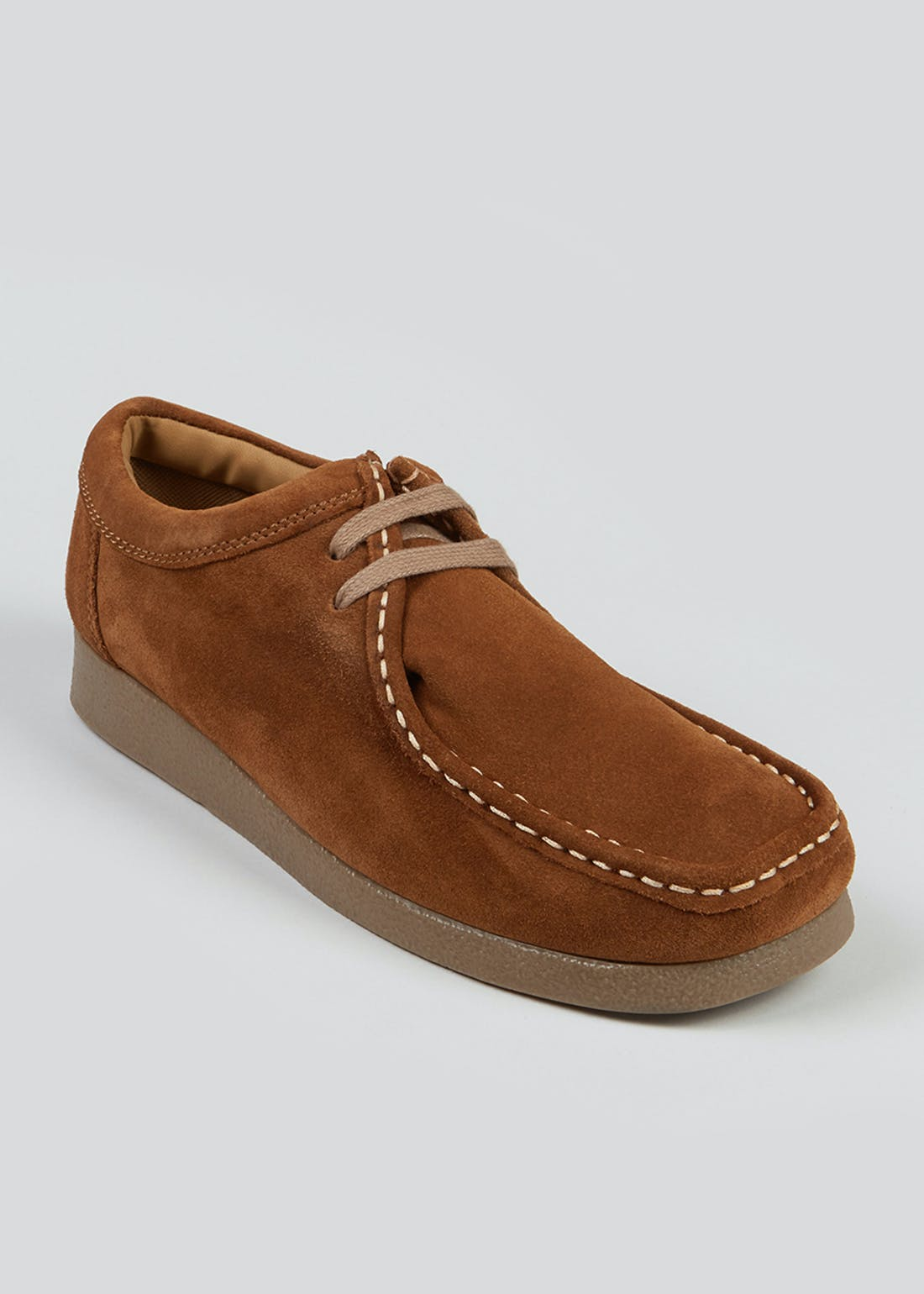 Brown Suede Lace Up Shoes
