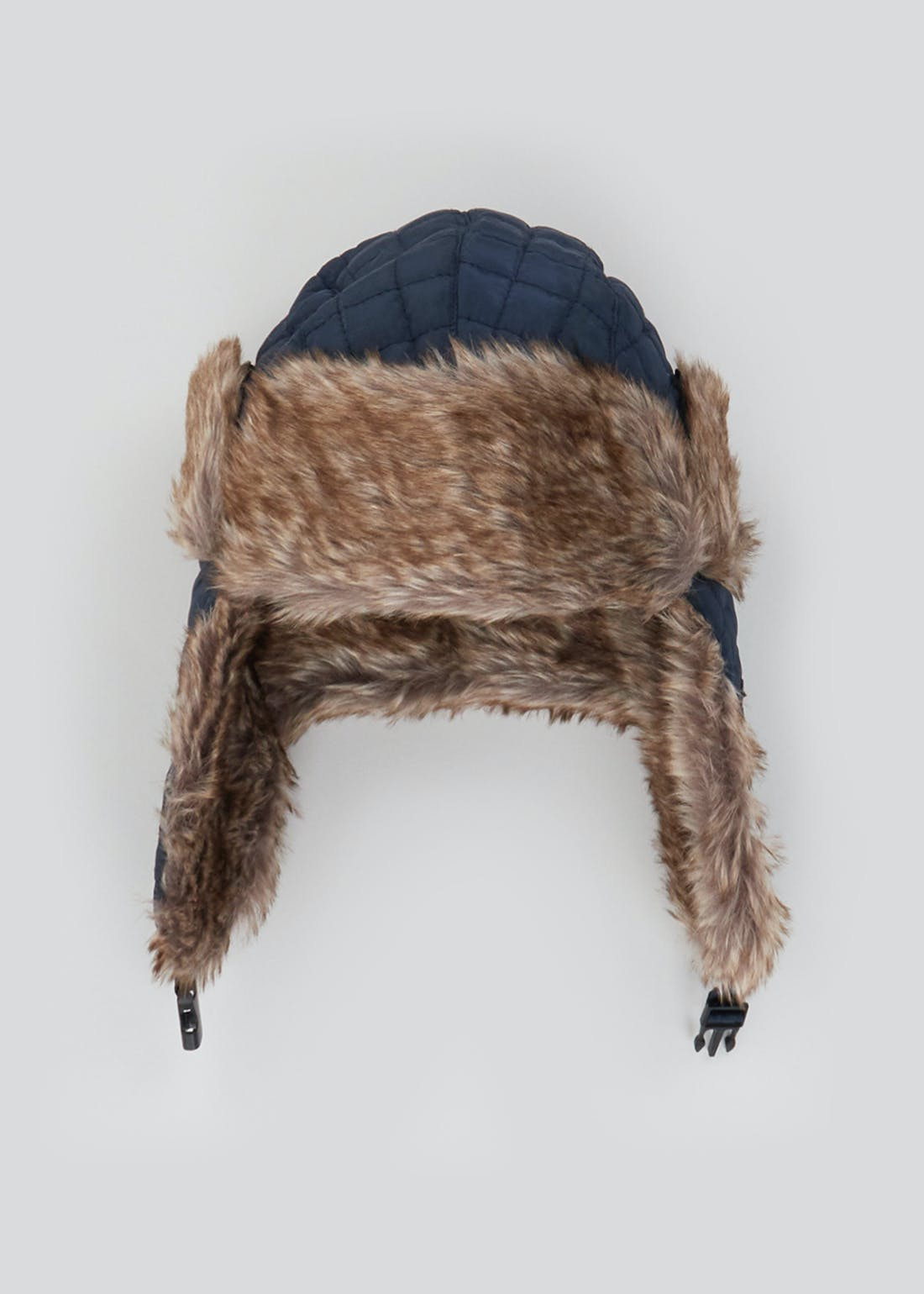 Boys Faux Fur Quilted Trapper Hat (7-13yrs)