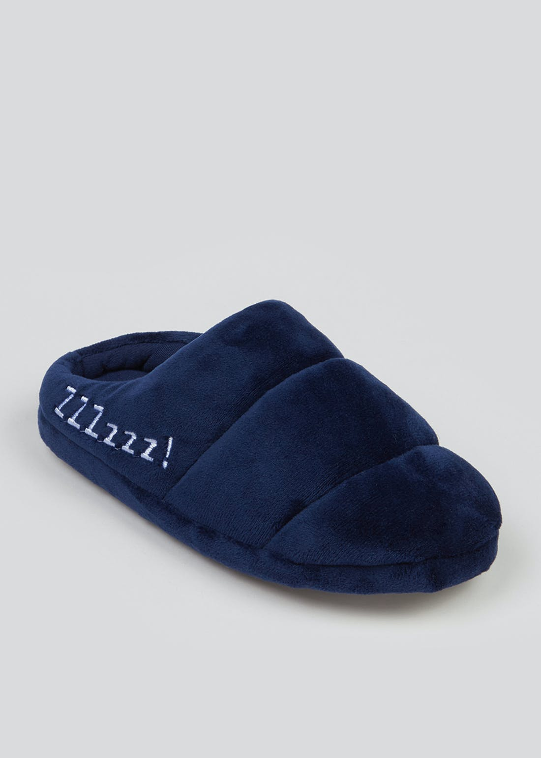 Boys Navy Mule Slippers (Younger 10-Older 6)