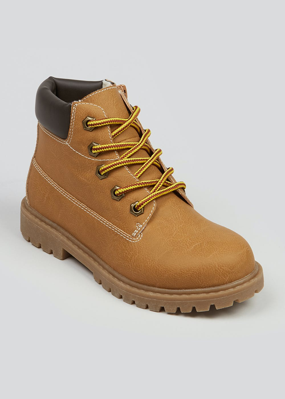 Boys Tan Hiker Boots (Younger 10-Older 6) – Tan