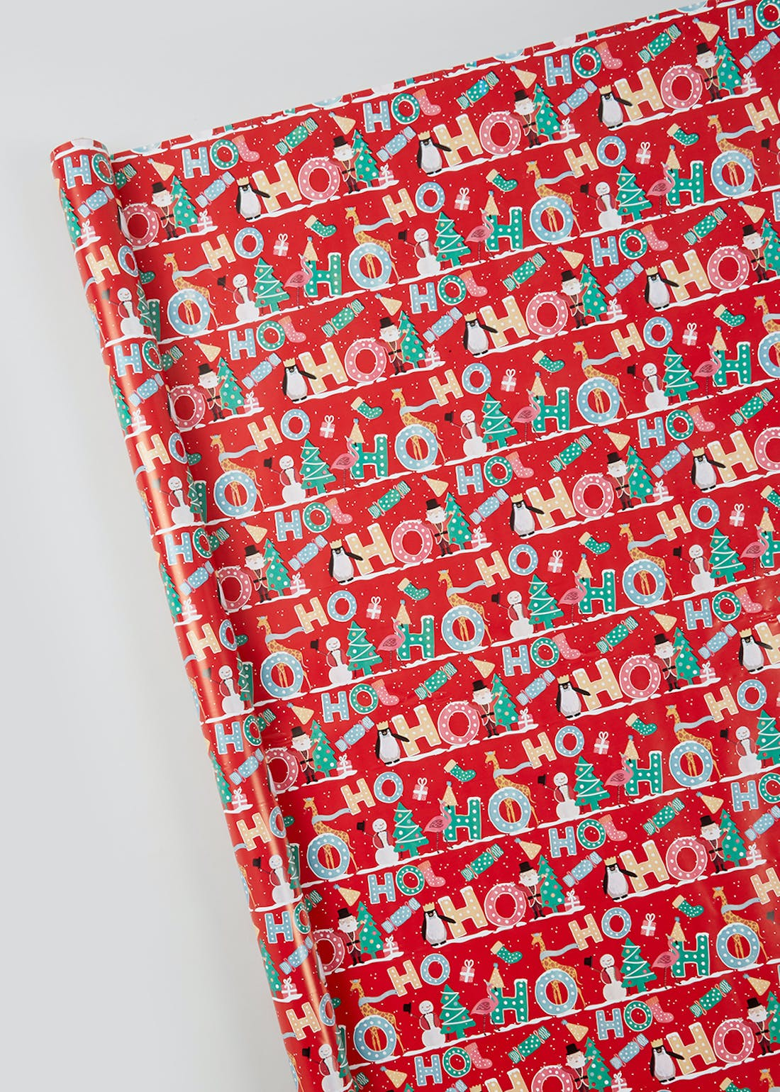 Ho Ho Ho Extra Wide Christmas Wrapping Paper (6m)