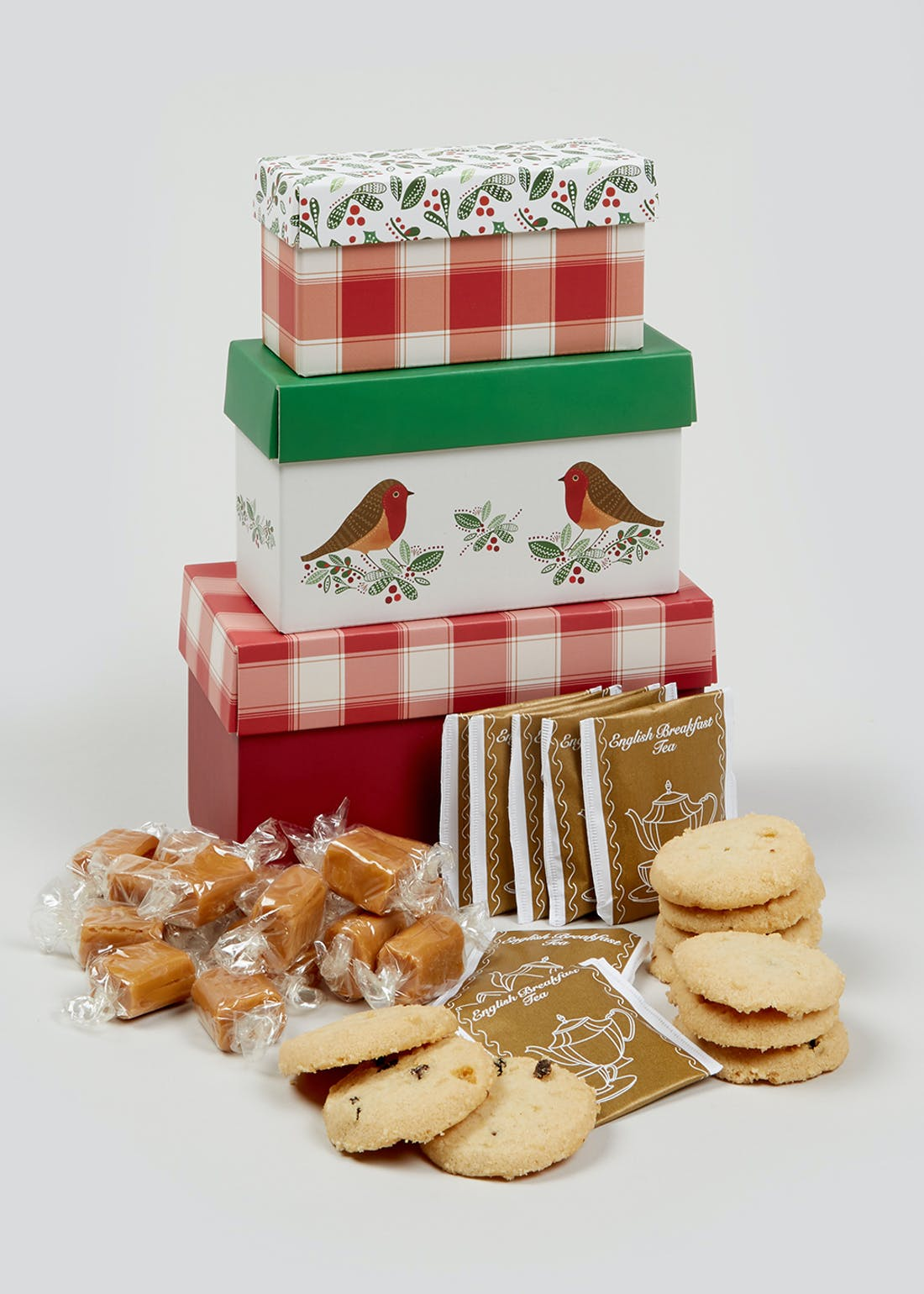 Christmas Afternoon Tea Gift Stack (24cm x 16cm x 8cm)