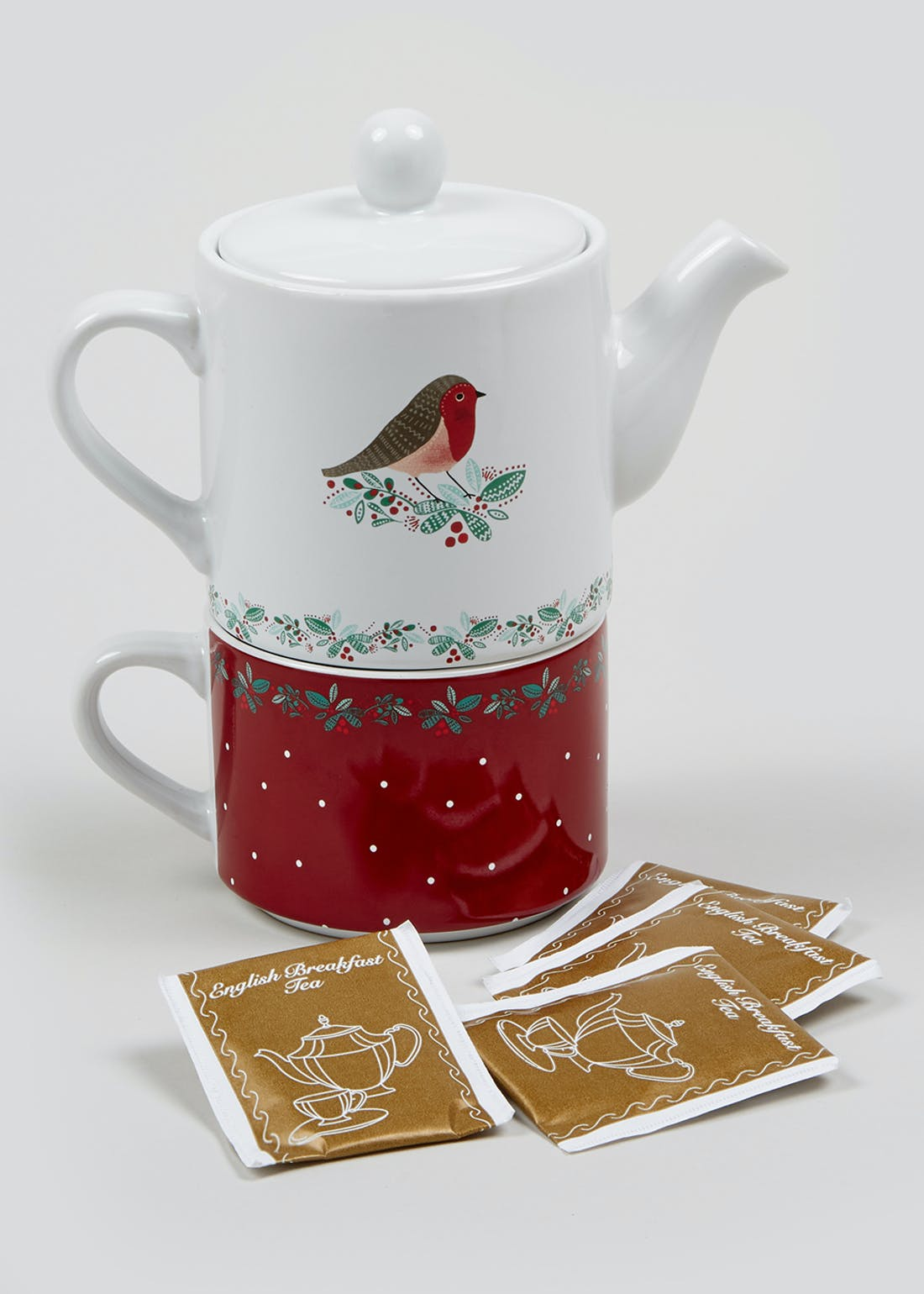 Tea for One Christmas Gift Set (18.5cm x 17cm x 9cm)