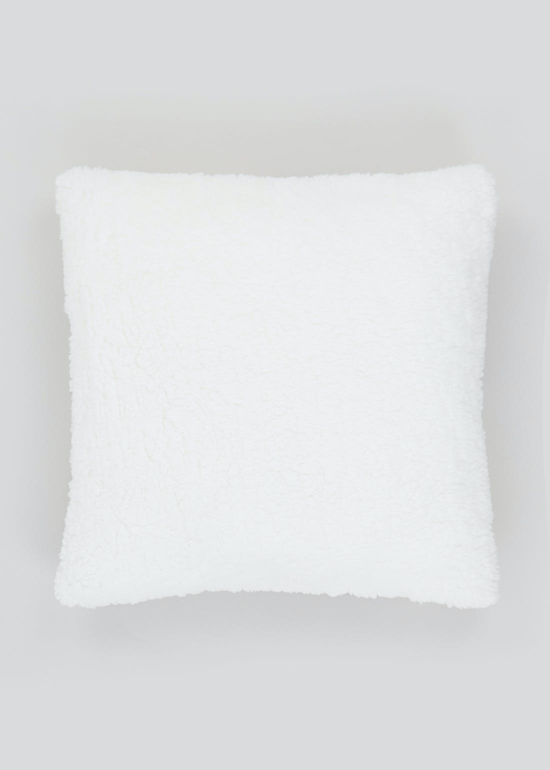 Check Sherpa Fleece Cushion (46cm x 46cm)