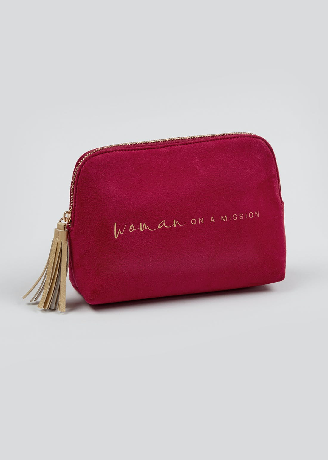 Woman on a Mission Make Up Bag (20cm x 14.5cm x 6cm)