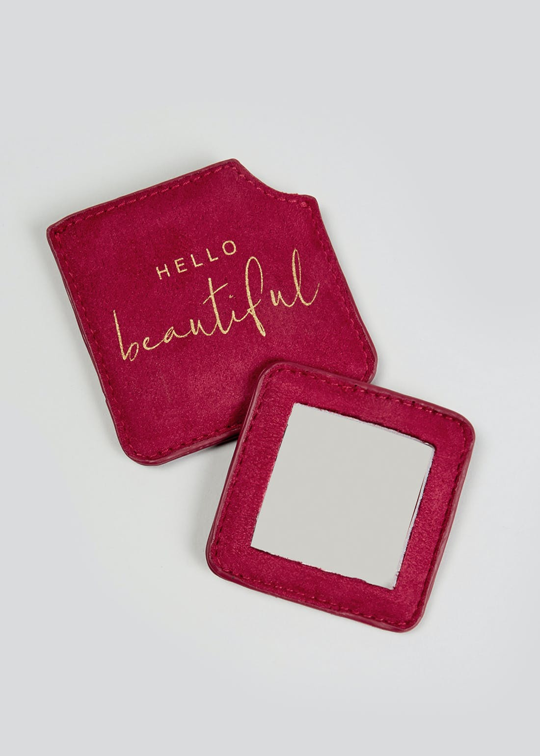 Hello Beautiful Pocket Mirror (7.8cm x 7.8cm)