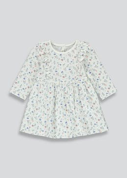 Girls Floral Jersey Dress (Tiny Baby-23mths)