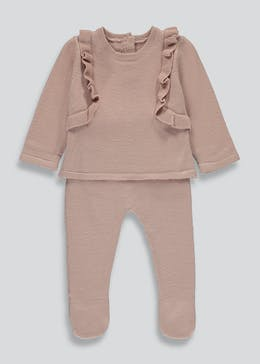 Girls Knitted Frill Set (Tiny Baby-23mths)