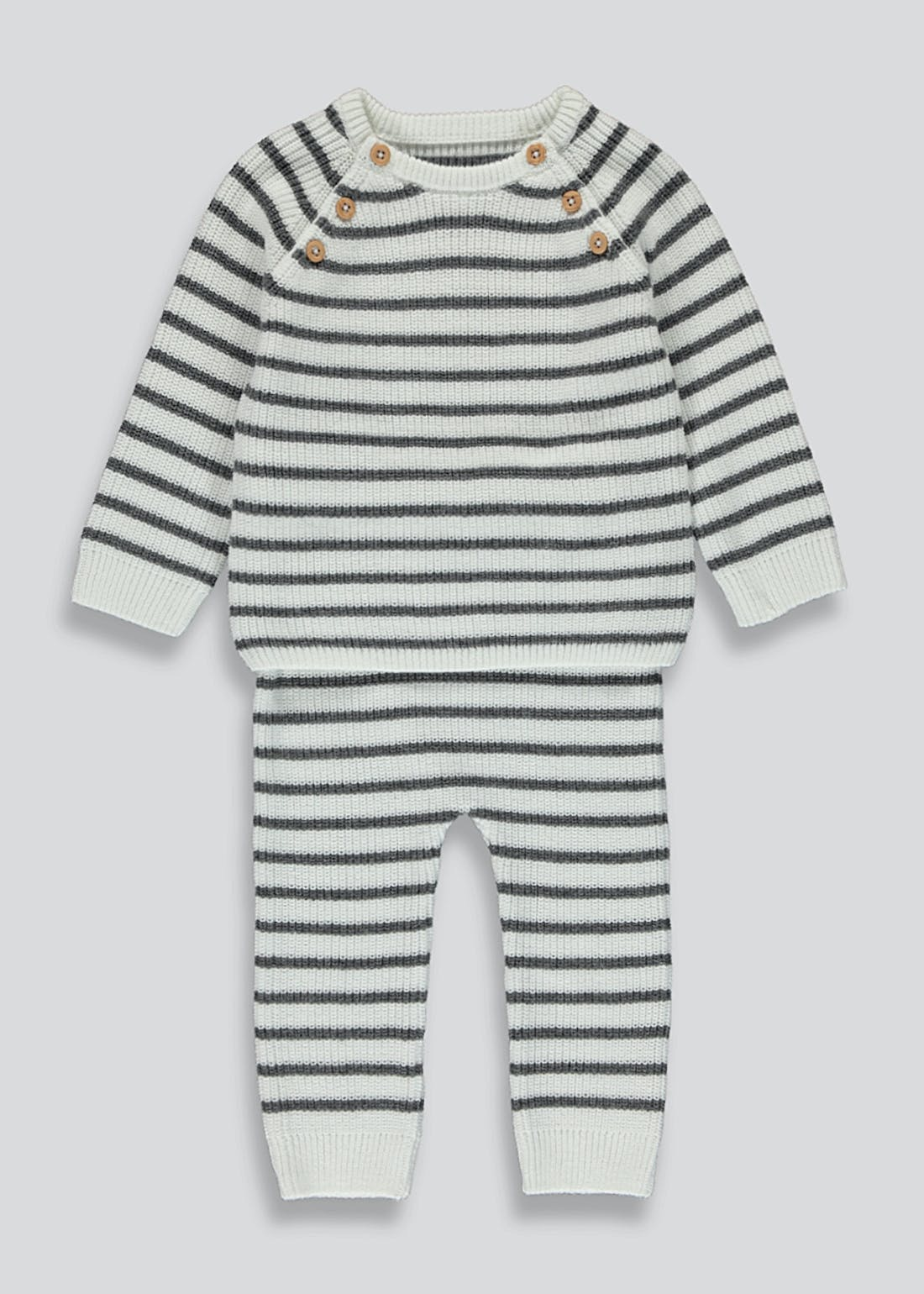 Unisex Knitted Stripe Set (Tiny Baby-23mths)